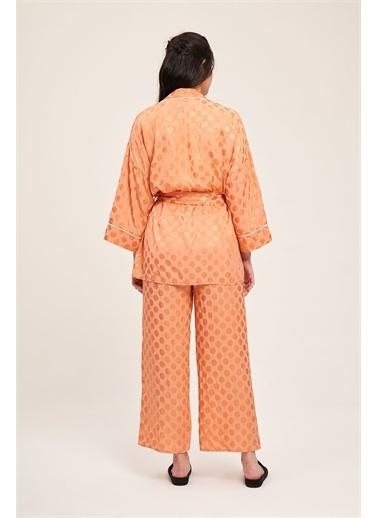 Mizalle Mizalle Jakar Desenli Kimono Takı,Lla,Xl Lila